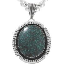 Spiderweb Turquoise Navajo Pendant 40323