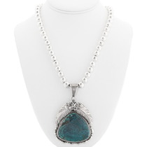 Large High Grade Turquoise Gemstone Pendant 40325