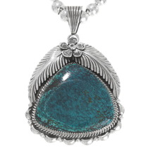 Spiderweb Turquoise Sterling Silver Pendant 40325