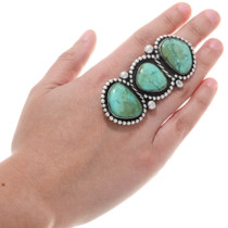 Green Turquoise Navajo Ring 40328