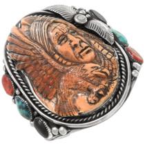 Carved Spiny Oyster Shell Bracelet 40331