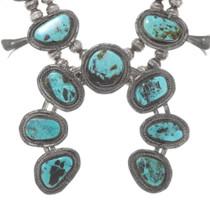 Vintage Ithaca Peak Turquoise Squash Blossom Necklace 40336