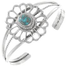 Turquoise Sterling Silver Navajo Bracelet 40337