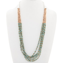Navajo Green Turquoise Heishi Necklace 40339