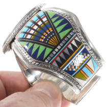 Colorful Multistone Gemstone Inlay Bracelet 40340