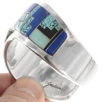 Spiderweb Turquoise Lapis Lazuli Inlay Bracelet 40343