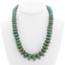 Vintage Graduated Turquoise Bead Necklace 40344