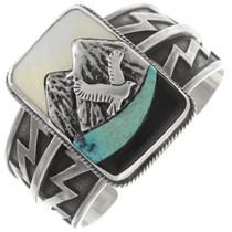 Sterling Silver Eagle Soaring Turquoise Bracelet 40345