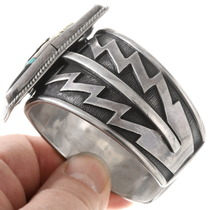 Native American Eagle Sterling Silver Cuff Bracelet 40345