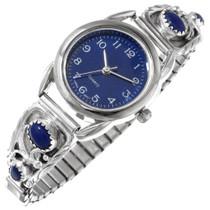 Lapis Sterling Silver Navajo Watch 40349