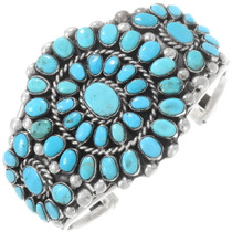 Native American Turquoise Cluster Bracelet 40354