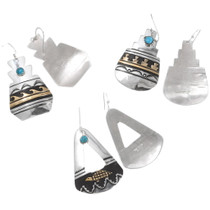 Authentic Navajo Earrings Silver Gold Artist Rose Singer Signed 40358