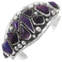 Sterling Silver Navajo Amethyst Bracelet 40360