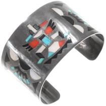 Old Pawn Zuni Inlay Knifewing Kachina Bracelet 40361