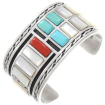 Zuni Turquoise Inlay Cuff Bracelet