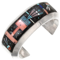 Vintage Micro Inlay Night Sky Kachina Bracelet 40383