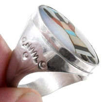Sterling Silver Gemstone Inlay Kachina Ring