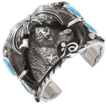 Navajo Genuine Bear Claw Cuff Bracelet 40388