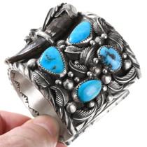 High Grade Sleeping Beauty Turquoise Sterling Silver Bracelet 40388