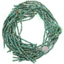 Real Turquoise Beads 5mm Heishi Disc Strand 37123