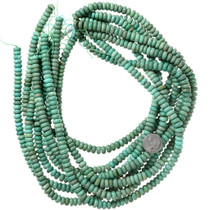 8mm Turquoise Rondelle Beads 37124