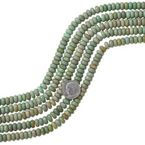 Olive Green Turquoise Rondelle Beads 37125