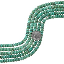Green Turquoise Rondelle Beads 37127