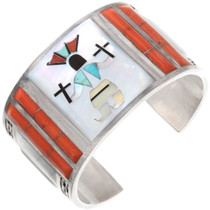 Vintage Zuni Apache Crown Dancer Cuff Bracelet 40389