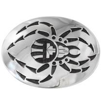 Native American Sterling Silver Spider Belt Buckle 40393