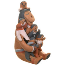 Native American Storyteller Pottery Doll 40397
