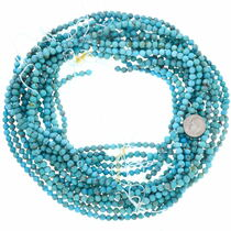 5mm Round Turquoise Beads 37130