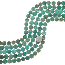 Green Turquoise Coin Beads 37131