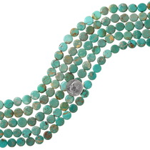 Real Turquoise Disc Bead Strand 37132