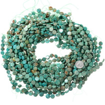 Green Turquoise Coin Beads 37132