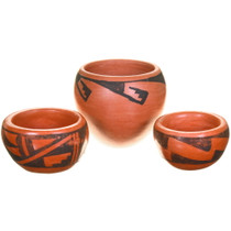 Small Vintage Hopi Tewa Pottery Set 40403
