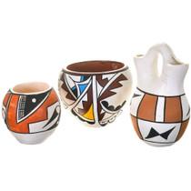 Vintage Southwest Polychrome Pottery 40404