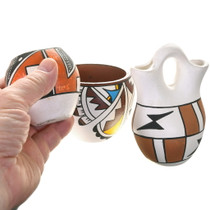 Set of 3 Colorful Native American Pottery 40404