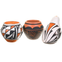 Set of 3 Cute Native American Pottery 40408