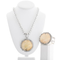 Vintage Santo Domingo Sterling Silver Pendant Bracelet Set 40415