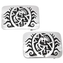 Navajo Kokopelli Design All Sterling Silver Belt Buckle 24074