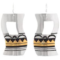 Native American Gold Silver Earrings 40419