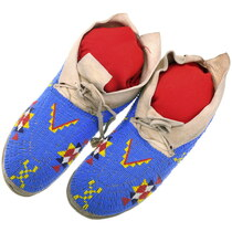 Vintage Native American Beaded Moccasins 40421