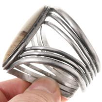 Sterling Silver Landscape Jasper Navajo Cuff Bracelet 40433