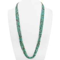 Old Pawn Turquoise Heishi Necklace