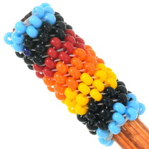 Colorful Navajo Beaded Hair Pin Accessory 40438