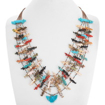 Old Pawn Zuni Fetish Necklace 40443