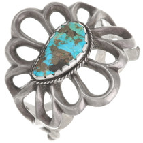 Old Pawn Sand Cast Turquoise Cuff Bracelet 40445