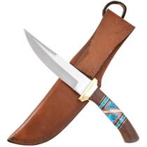 Ironwood Spiderweb Turquoise Handle Knife 40446