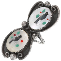 Sterling Silver Zuni Cardinal Ring 40451