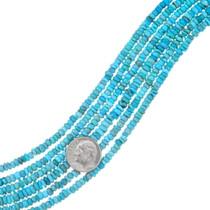 Polished Turquoise Heishi Beads 37134